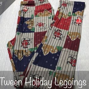 NWT Lularoe Tween Christmas Leggings